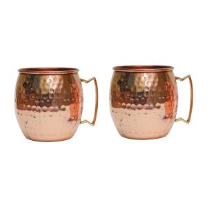 Copper Hammered Mule Cup