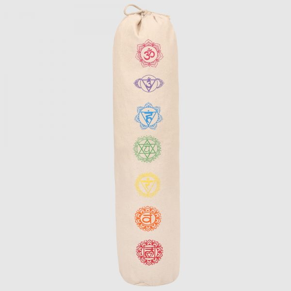 7 Chakra-Cotton Canvas Yoga Mat Bag