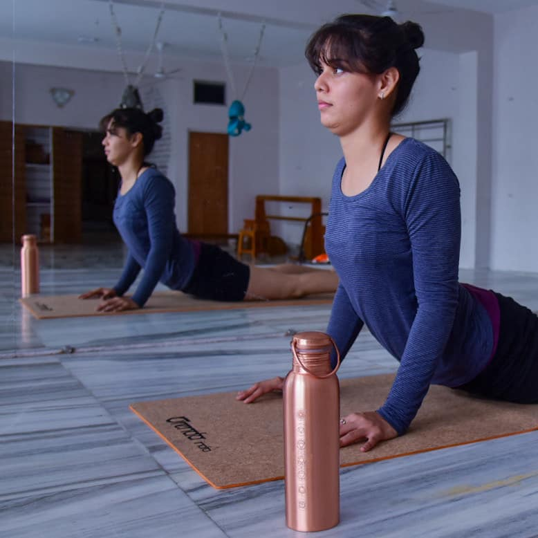 Bhujangasana on Orenda Indai Yoga Mat