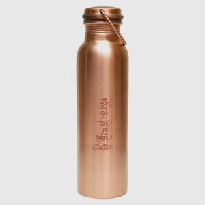 Ayurvedic Copper Water Bottle-The Tibetan Prayer Design Bottle