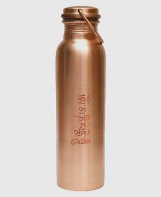 Ayurvedic Copper Water Bottle-The Tibetan Prayer Design Bottle